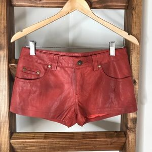 Free People Faux Leather Shorts • Size 0